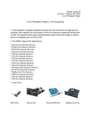 unit 4 research paper 1 port