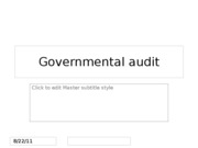 Governmental audit