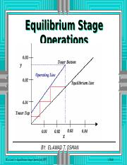 CLO2- Equilibreum Stage Operations-Fall-2015