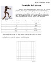 zombie takeover worksheet