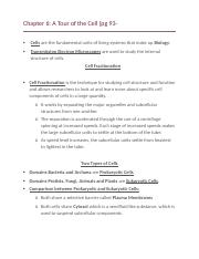 Chapter 6 Textbook Notes (inc)