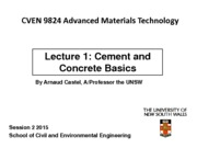CVEN9824  lect 1 2015 cement and concrete Basics