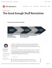 The Good Enough Stuff Revolution ‹ The Information
