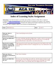 Index of Learning Styles Assignment.MK