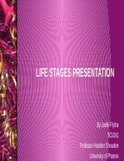 SCI-241 WK 7 Life Stages Presentation