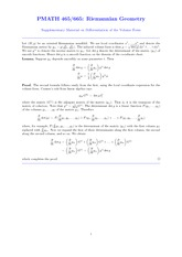 Supplementary Material on Differentiation of the Volume Form
