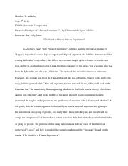 en assignment interpretive analysis essay outline  3 pages en 304 assignment 11 final draft of rhetorical analysis essay adichie s article
