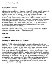 International Adoption Research Paper Starter - eNotes