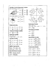 HANDOUT TRIG FUNCTIONS