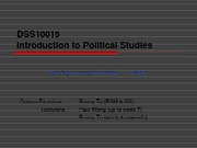 L1 Introduction to Political Studies
