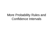 More Probability