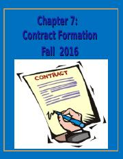 Chapter 7 contract Formation.pptx