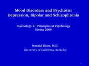 Mood disorders and Schiz2 POST