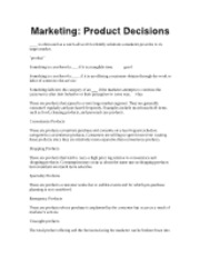 Principles of Marketing-Product Decisions
