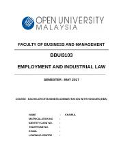 BBUI3103 EMPLOYEMENT AND INDUSTRIAL LAW (Autosaved).docx