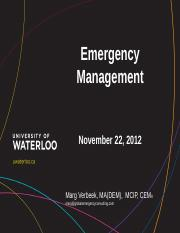 MV Part 1 Emergency Management