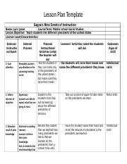 Lesson plan lesson plan template gagne 39 s nine events of - Instructional design plan examples ...