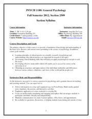 Personal Syllabus Fall Semester 12