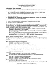 interview with a social worker essay The job interview for social workers includes: behavioral interview questions and experience/qualifications questions these questions will enable the interviewer to assess the appropriateness of the applicant to the said position.