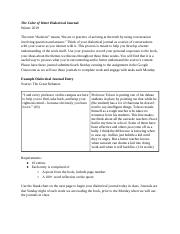 "Copy of ""The Color of Water"" Dialectical Journal"