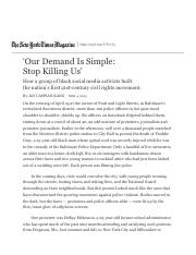 'Our Demand Is Simple_ Stop Killing Us' - The New York Times.pdf