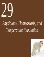 Ch29_Lecture-Physiology_Homeostasis_and_Temperature_Regulation
