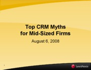 Top CRM myth for mid size firms_2008-08-06