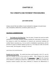 CHAPTER 13 Tax Credits and Payment .docx