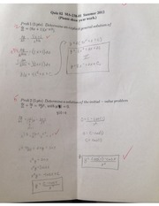 Applied Differential Equations Quiz 2