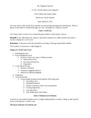 P-151 Unit 5 Week One Study Guide