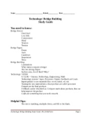 Technology and Bridge test study guide