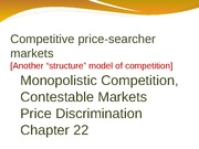 Chapter 23 Competitive Price Seacher market