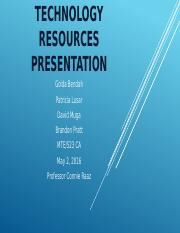 Technology Resources Presentation