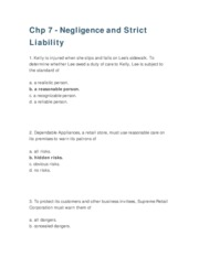 Chapter7 Negligence and Strict Liability NEW
