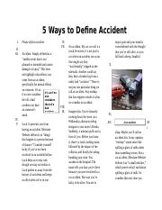 5 Ways to Define Accident