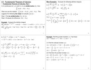 Lecture Notes on Fundamental Theorem of Calculus