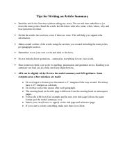 Tips for Writing an Article Summary.doc