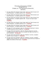 Assignment #1 - Ch 14 - The Demand for Resources(4) (1).doc