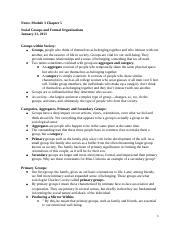Notes Module 3 Essentials of Sociology Chapter 5.docx