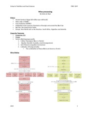 Wine processing student NOTES 2014