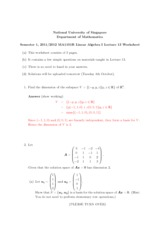 Lecture 13 Worksheet Solution