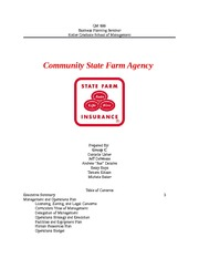 Community State Farm Agency Team C GM 600 JD OPS Updates