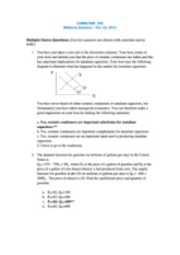 COMM 295 2011 Midterm Solutions