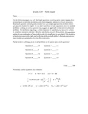 Exam 1 Solutions 2013