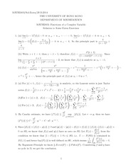 MATH 2403 Supplementary Exercises Solutions