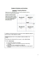 Ch4 Relations and Functions - Graphing Relations