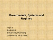 L3 Governments-Systems-Regimes