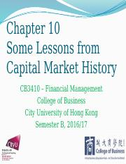 Chapter 10 Some Lessons from Capital Market History.pptx