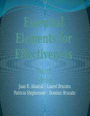Chap 1 Essential Elements 5th ed