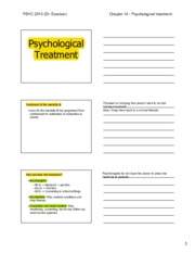 Chapter 15 - Psychological treatment